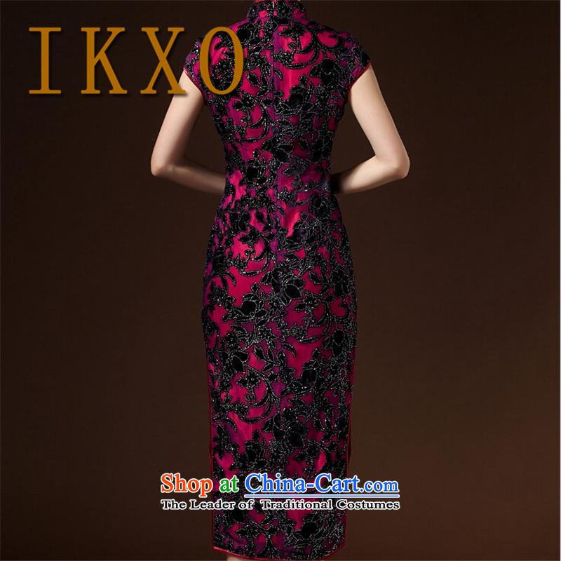 Summer 2015 new IKXO Ms. stylish comfort ramp short-sleeved gown low on women's dresses suit燲L