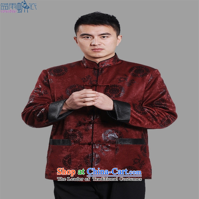 Tang Dynasty Chinese robe M0045-a robe dark red L