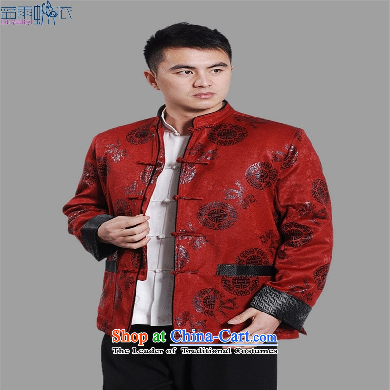 Tang dynasty robe men M0045 robe red XL