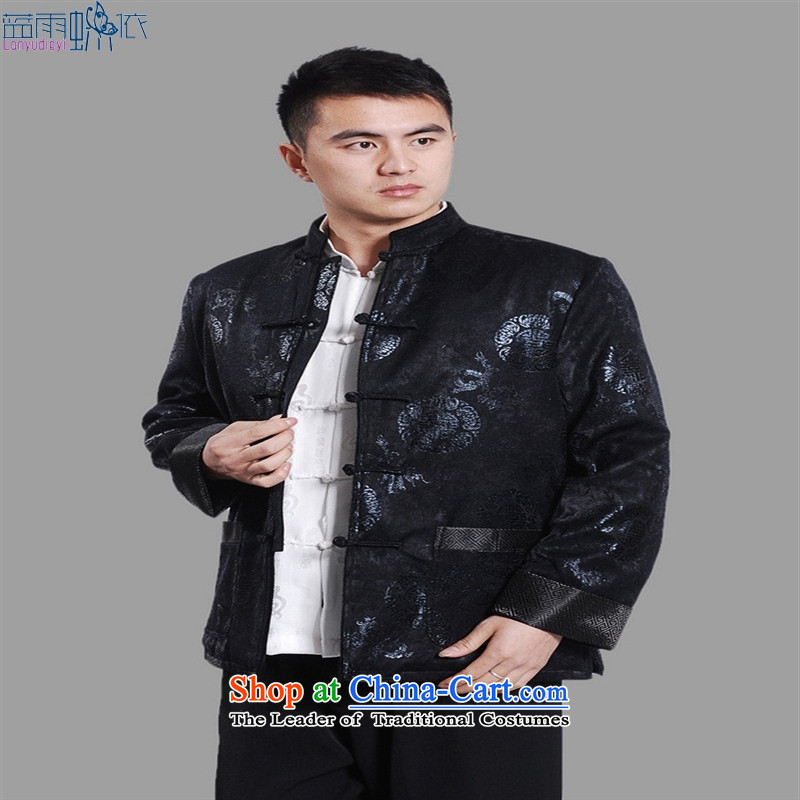 Tang dynasty robe male Tang Gown robe M0045-b dark blue L