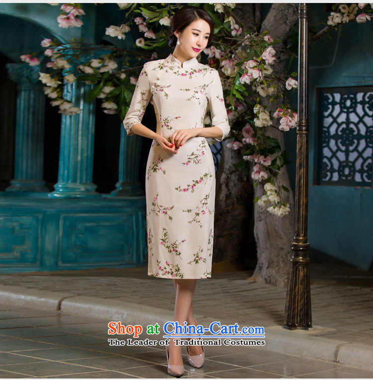 Sato Log?聽2015 Autumn replacing retro qipao graphics in thin cuff Sau San larger improved linen long skirt NC3219036 cheongsam with聽L picture, prices, brand platters! The elections are supplied in the national character of distribution, so action, buy now enjoy more preferential! As soon as possible.