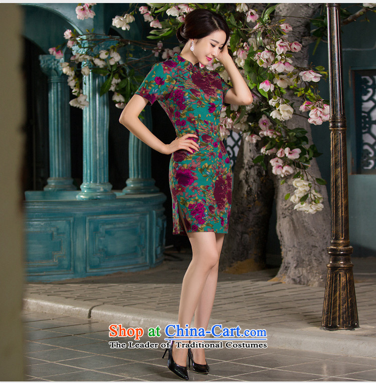Sato Log?qipao聽Summer 2015 new stylish improved cheongsam dress linen retro short-sleeved qipao Sau San NC3219026 SAMUI RED聽M picture, prices, brand platters! The elections are supplied in the national character of distribution, so action, buy now enjoy more preferential! As soon as possible.