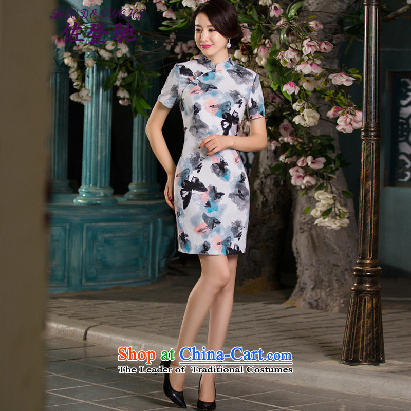 Sato Log?qipao聽Summer 2015 new stylish improved cheongsam dress linen retro short-sleeved qipao Sau San NC3219026 SAMUI RED聽M Sato Log?ZUODENGCHI) , , , shopping on the Internet