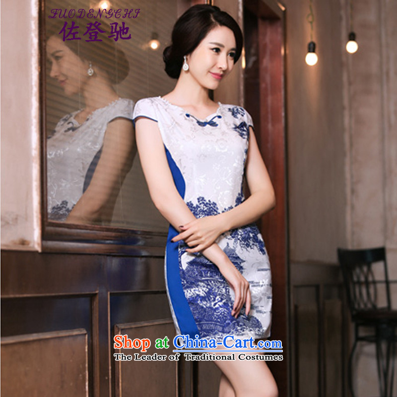 Sato Log?聽2015 Summer qipao improved retro skirt Fashion Ms. daily qipao Sau San short skirt_ color photo NC3219034聽L
