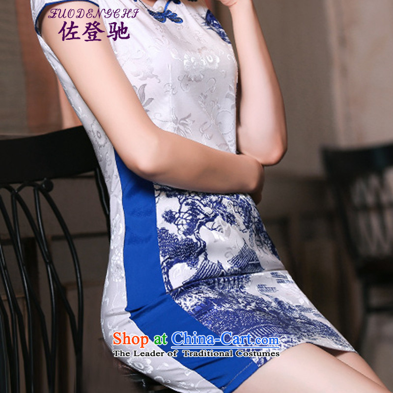Sato Log?聽2015 Summer qipao improved retro skirt Fashion Ms. daily qipao Sau San short skirt) picture color聽L, Tadeusz Mazowiecki NC3219034 Log?ZUODENGCHI) , , , shopping on the Internet