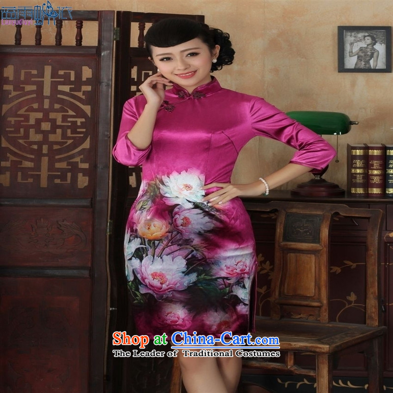 Tang dynasty qipao TD0035 new ethnic women Kim velvet cheongsam dress Sau San 7 Cuff Color Picture�XXL