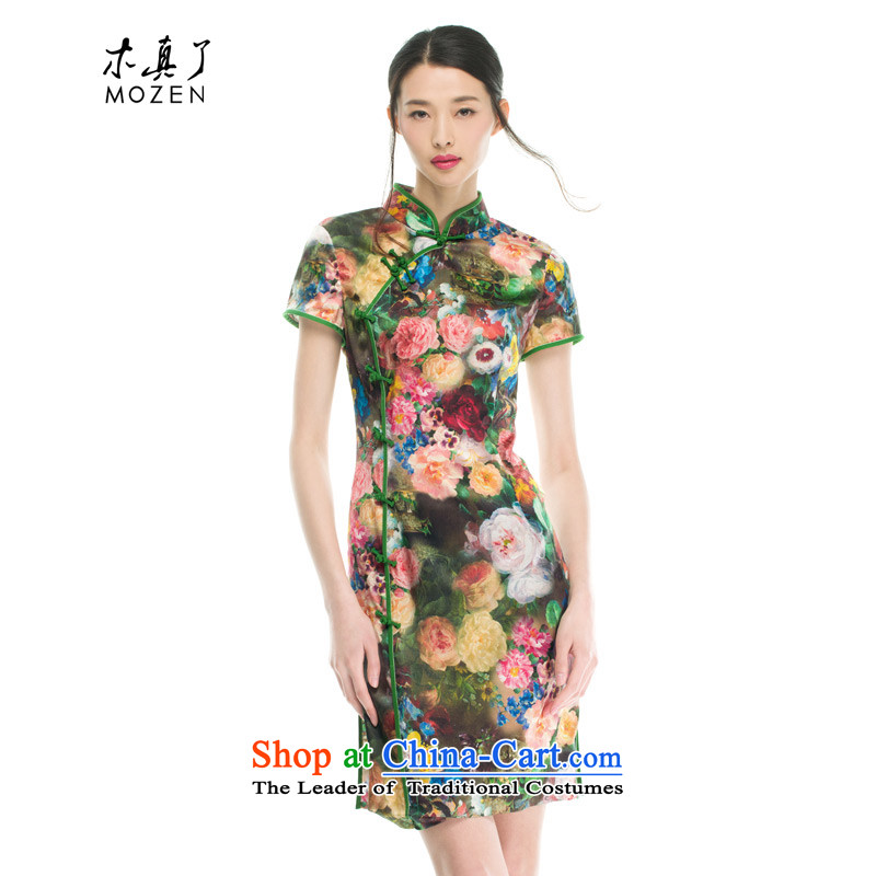 Wood, an improved cheongsam dress really fall 2015 installed new women's stylish stretch of Sau San Silk Dresses 53302 00聽Xxl_b_ Suit