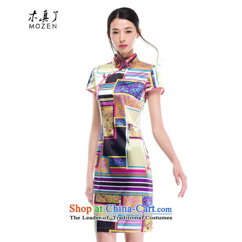 Wood, an improved cheongsam dress really fall 2015 installed new women's stylish stretch of Sau San Silk Dresses 53319 00 jacquard yarn-聽L