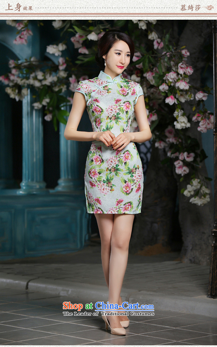 In the autumn of聽2015, the cross-sa Ling new cheongsam dress summer Stylish retro improved cheongsam look short-sleeved cheongsam dress聽XL Photo, prices, brand platters! The elections are supplied in the national character of distribution, so action, buy now enjoy more preferential! As soon as possible.