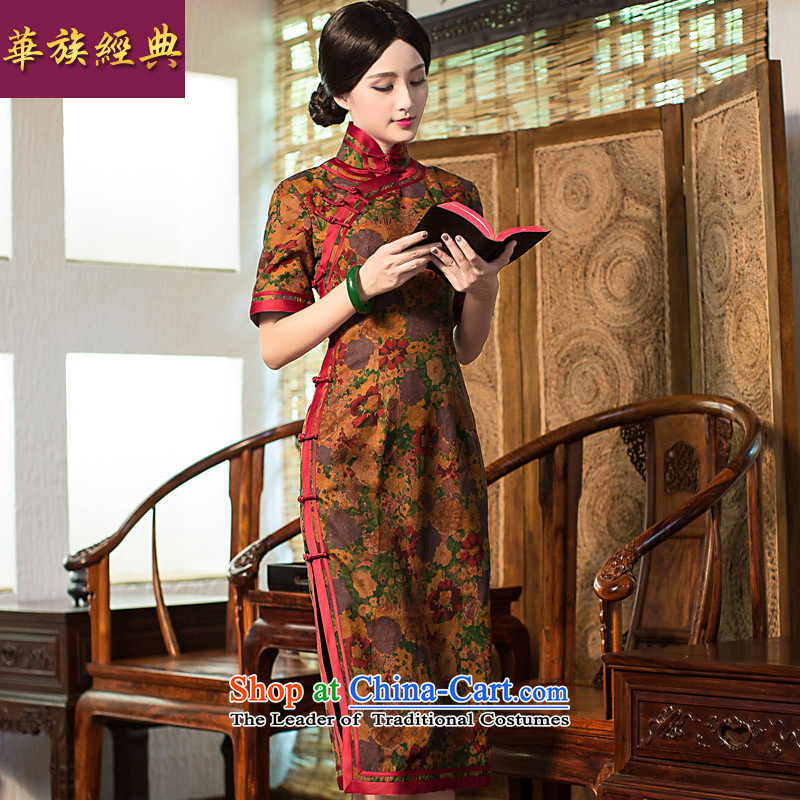 Chinese Classic summer-new high-precious silk-lb cloud yarn qipao retro improvement of Sau San daily picture color燲L