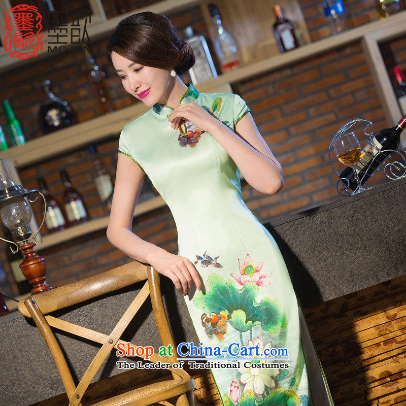 I should be grateful if you would have the ink � Gel New cheongsam dress long summer daily Ms. qipao qipao improved?QD238 S