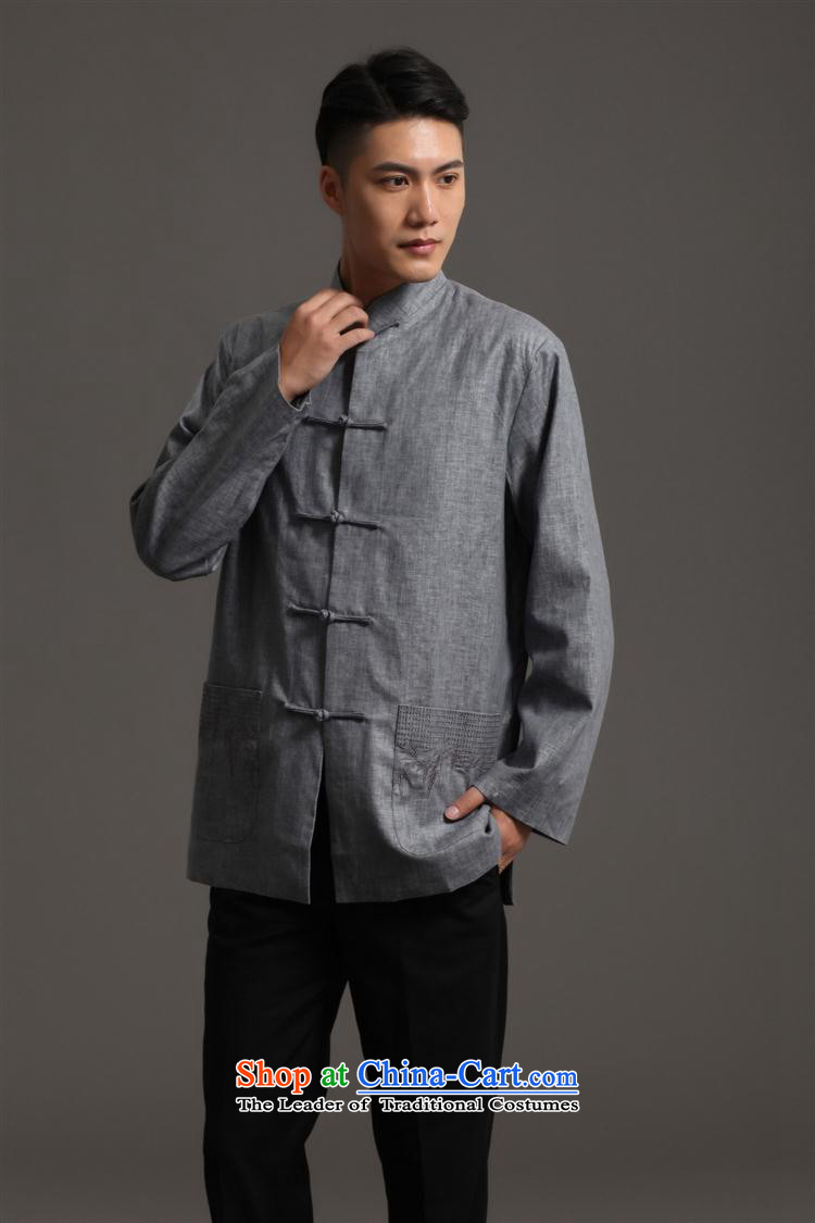 Tang Dynasty 2512-2 men) Chinese tunic, new collar ethnic Han-Tang Dynasty Light Gray XXL picture, prices, brand platters! The elections are supplied in the national character of distribution, so action, buy now enjoy more preferential! As soon as possible.