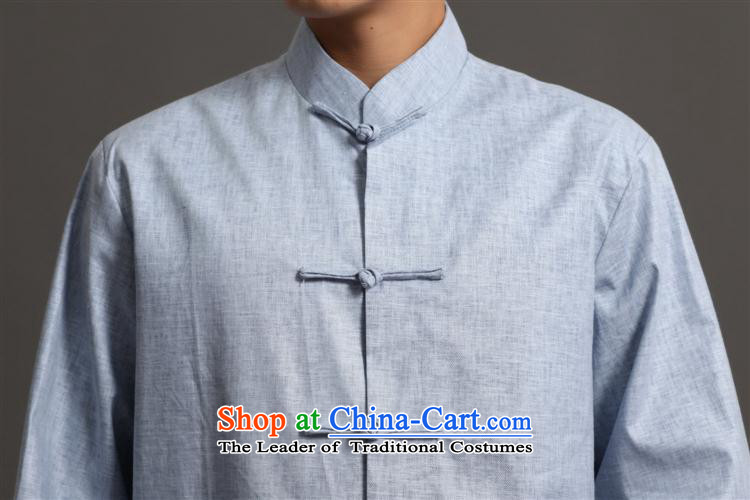Tang Dynasty 2512-3 men) Chinese tunic, new collar ethnic Han-Tang Dynasty Light Gray L picture, prices, brand platters! The elections are supplied in the national character of distribution, so action, buy now enjoy more preferential! As soon as possible.