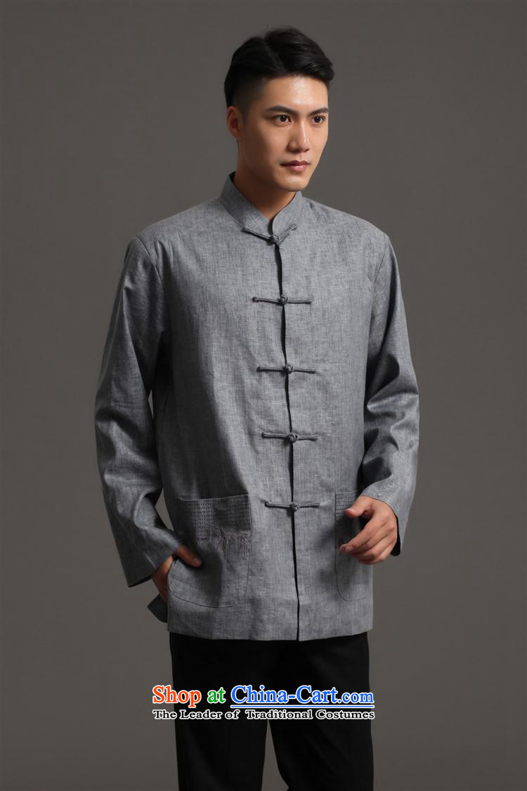 Tang Dynasty 2512-1 men) Chinese tunic, new collar ethnic Han-Tang Dynasty Light GrayL picture, prices, brand platters! The elections are supplied in the national character of distribution, so action, buy now enjoy more preferential! As soon as possible.