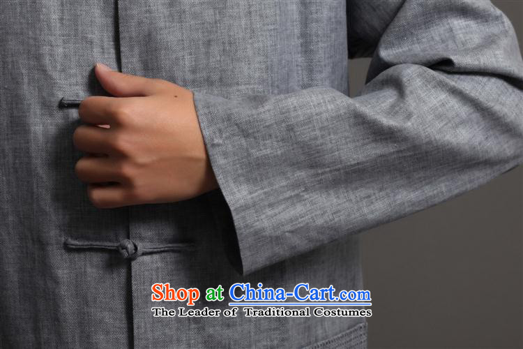Tang Dynasty 2512-1 men) Chinese tunic, new collar ethnic Han-Tang Dynasty Light Gray聽L picture, prices, brand platters! The elections are supplied in the national character of distribution, so action, buy now enjoy more preferential! As soon as possible.