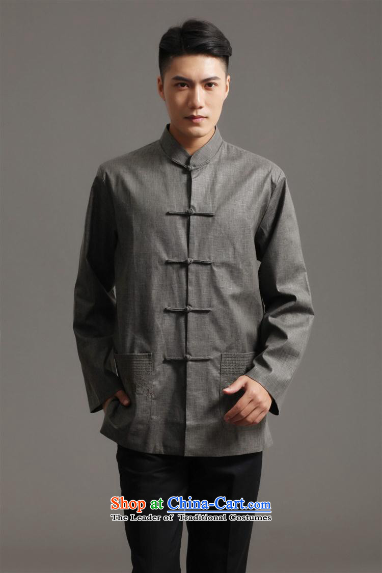 Tang Dynasty 2512-1 men) Chinese tunic, new collar ethnic Han-Tang Dynasty Light Gray L picture, prices, brand platters! The elections are supplied in the national character of distribution, so action, buy now enjoy more preferential! As soon as possible.