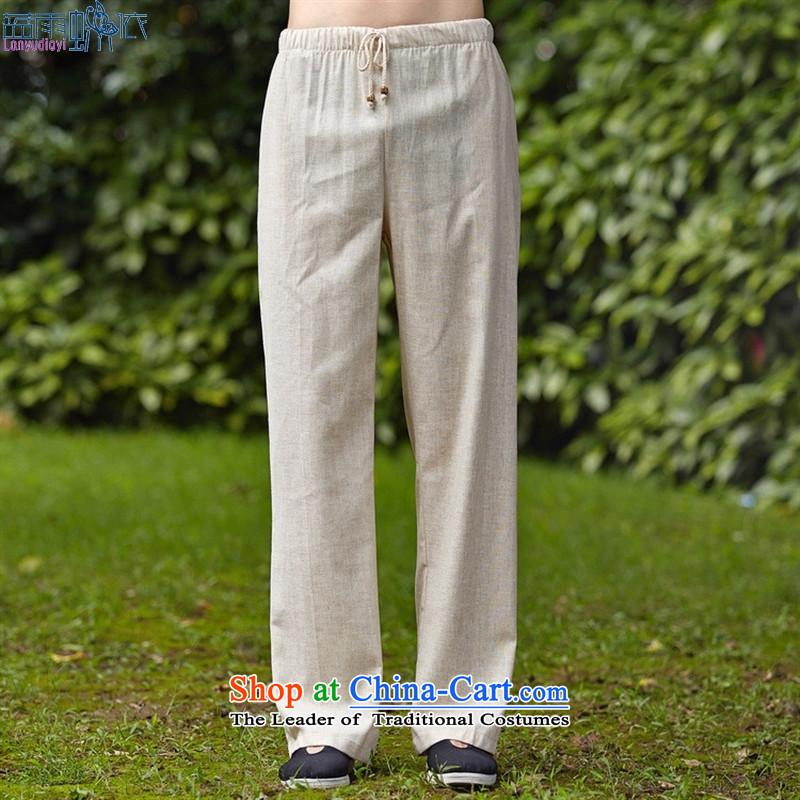 Short-sleeved blouses Tang kit 2525-1 men Taiji Kongfu shirt WhiteM Blue rain butterfly according to , , , shopping on the Internet
