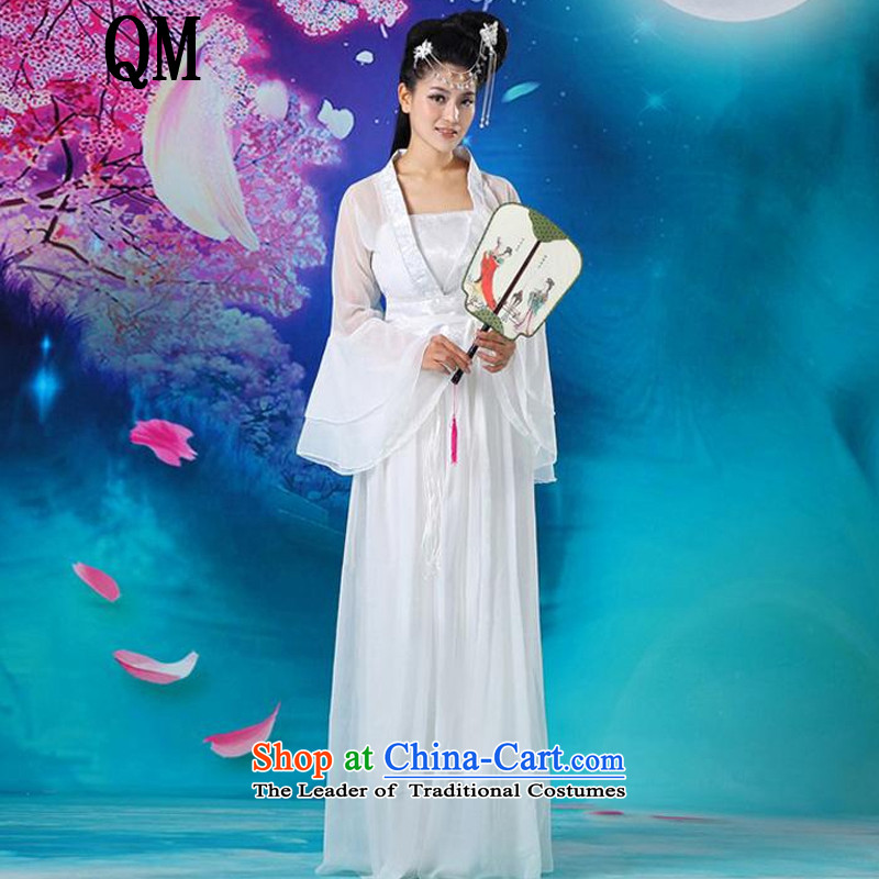At the end of Light Classical Han-floor, guzheng fairies Han-female stage performances serving a seven-Gwi-loaded?CX5 fairies magnificent?white are code