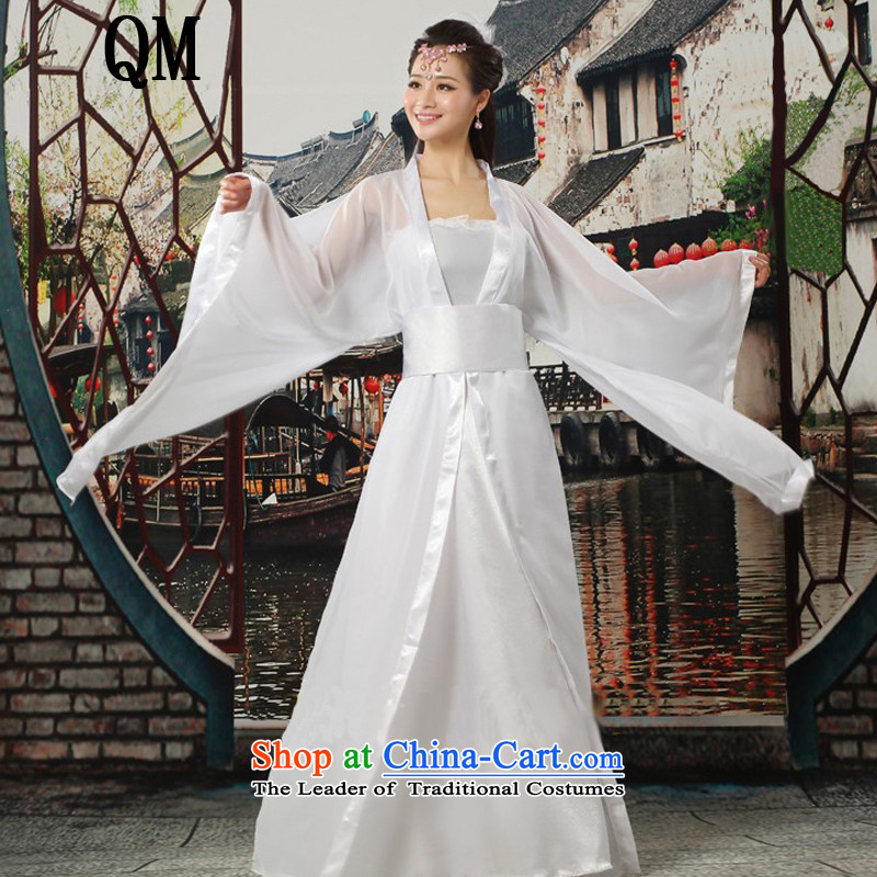 At the end of Light Classical Han-Tang dynasty ancient Han-Princess women CX7 cosplay costumes white Breast 85