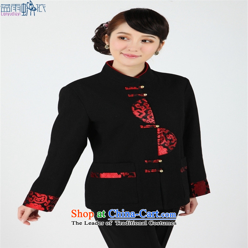 Women and men are older Tang dynasty -2358-2- Tang blouses, overalls and costumes. Red燲L