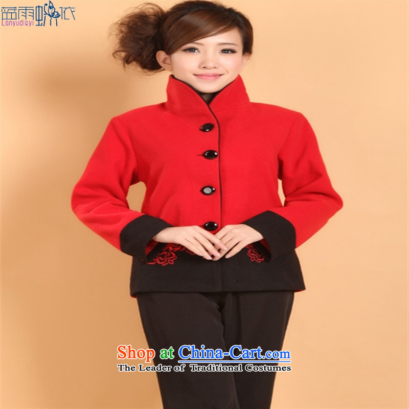 2298-2 Tang blouses shirt? Chinese clothing costumes overalls autumn and winter, National Black?M