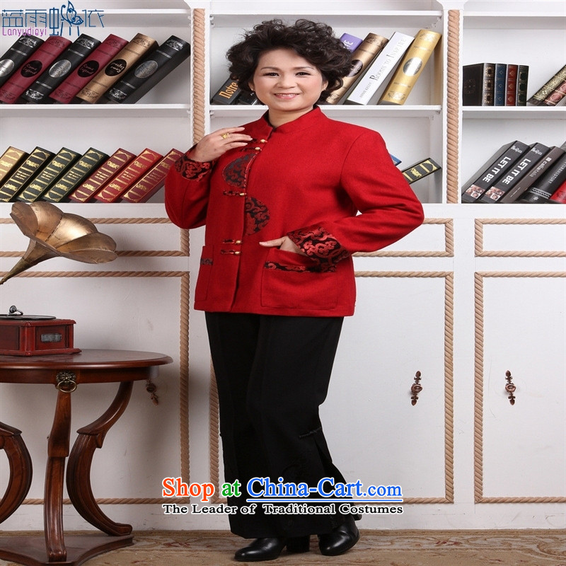 Tang dynasty women's robe female Chinese national women's clothes costumes 2358-1 Workwear casual clothing RED M