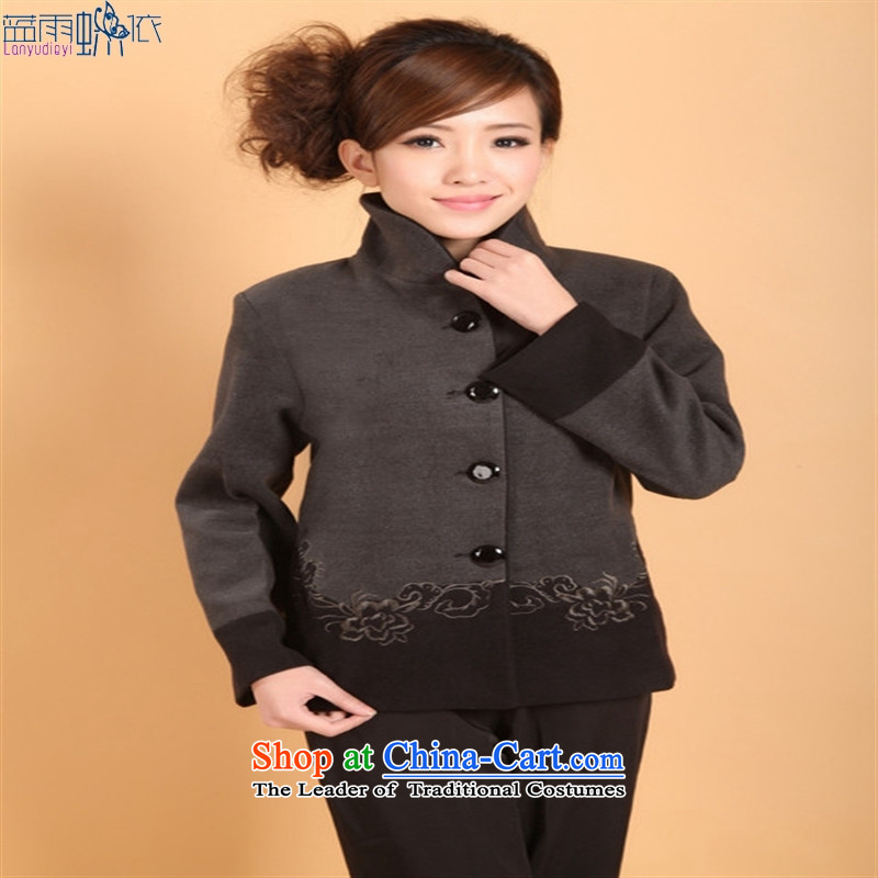 The new Tang woolen [2298-1]?) Tang loaded on clothing Chinese clothing, costumes. Gray�XXXL