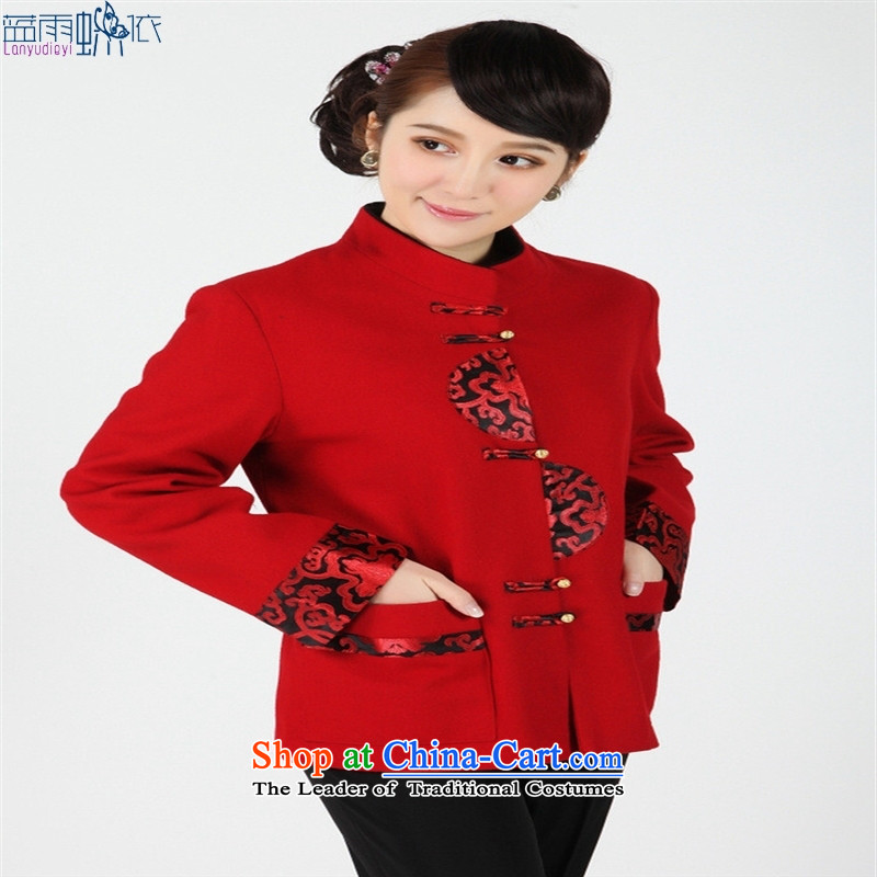 Women and men are older Tang dynasty [2358-1] Tang blouses, overalls and costumes. Black�XXXL