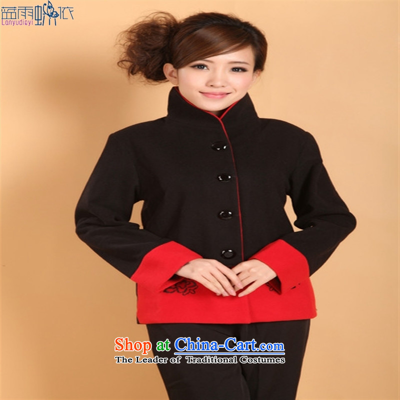 Qipao Tang blouses workwear national costumes Chinese clothing costumes. Gray┬аM