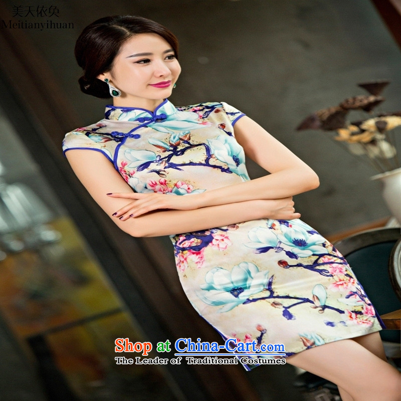 The new Silk Cheongsam dress stylish and elegant qipao cheongsam dress daily Sau San聽S Suit