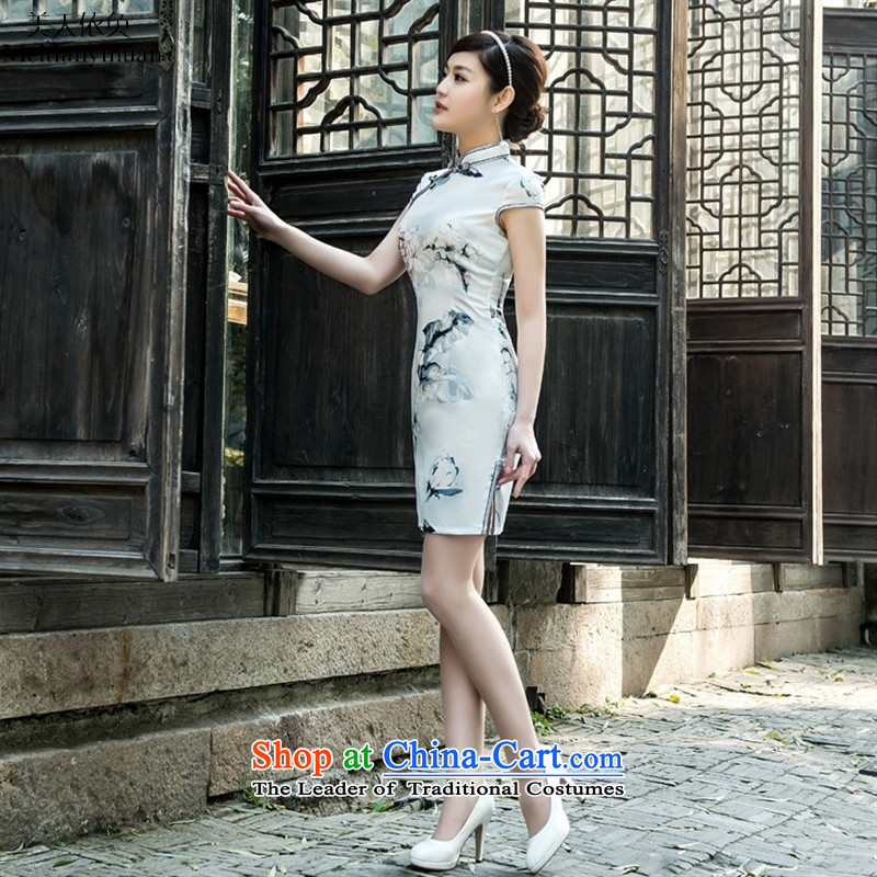 2015 Spring Tension of low lotus facade on's elegant qipao cheongsam dress suits collar聽S