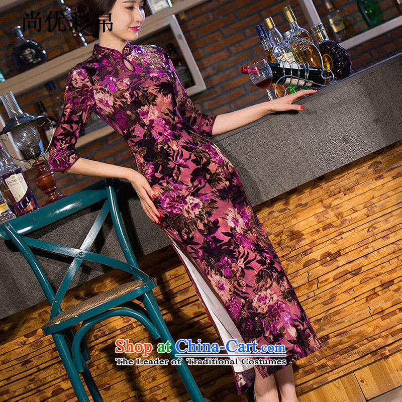 There is also optimized 8D replica scouring pads in the skirt qipao Kim older xl long wedding mother replacing performances cheongsam dress sm6549 picture color燲XL