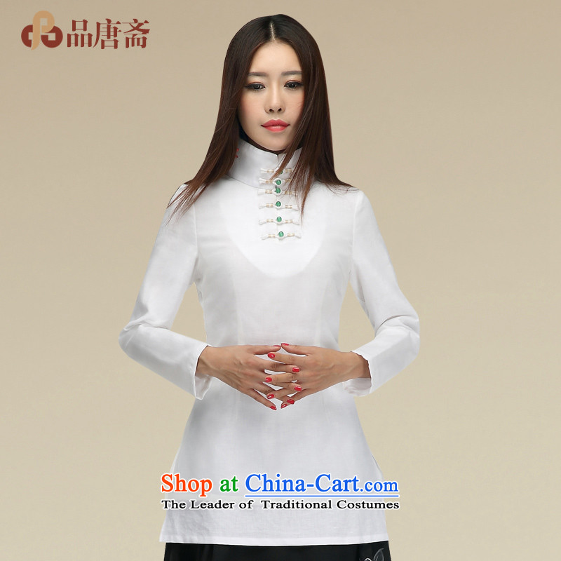 Tang Tang Dynasty Ramadan No. female聽2015 the Republic of Korea, New autumn wind retro female qipao shirt color picture聽XL
