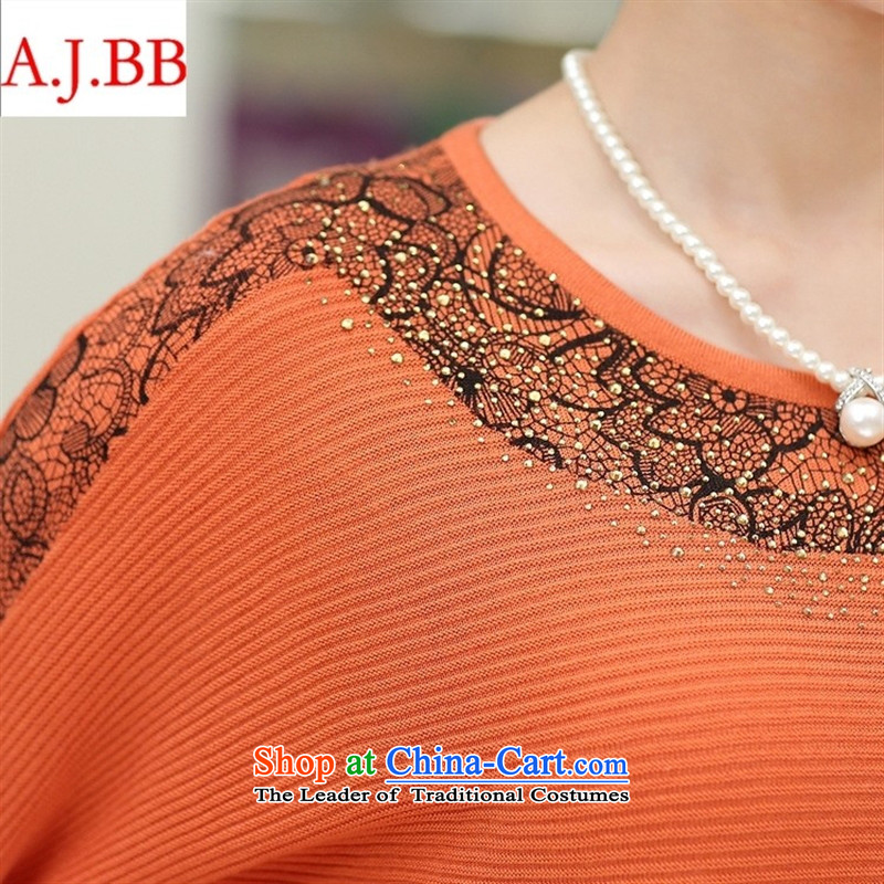 Orange Tysan * load new moms autumn boxed long-sleeved bat sleeves shirt shirts, forming the elderly people in the middle-aged women 40-50 knitwear聽115,A.J.BB,,, orange shopping on the Internet