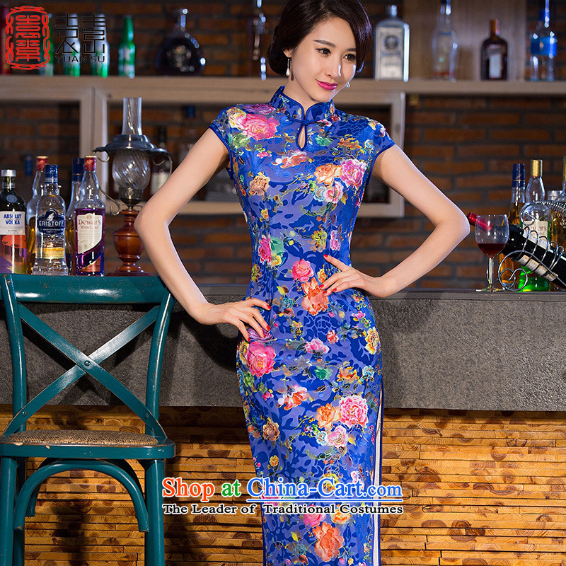 Yuan of rain in temperament new skirt qipao?autumn 2015 replacing retro improved cheongsam dress in the ordinary course of qipao long?QD253?picture color?XXL