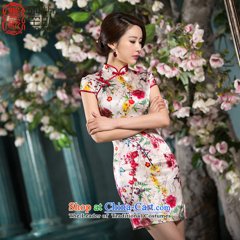 The Cayman Mui�2015 ? Silk Cheongsam summer improved stylish ethnic cheongsam dress cheongsam dress�SZ S2236 2XL
