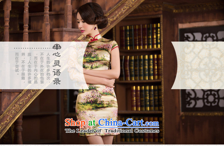 The concept of Ruth 2015 歆 silk cheongsam dress summer short qipao improved retro style qipao Sau San female dresses SZ S2238 3XL picture, prices, brand platters! The elections are supplied in the national character of distribution, so action, buy now enjoy more preferential! As soon as possible.