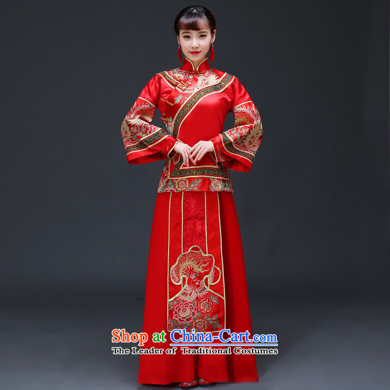 The Royal Advisory Groups to show friendly new Chinese Dress bride hi retro services services use the dragon costume bows cheongsam wedding Bong-Koon-hsia previous Popes are placed a drift Red + Head Ornaments燲L chest 106