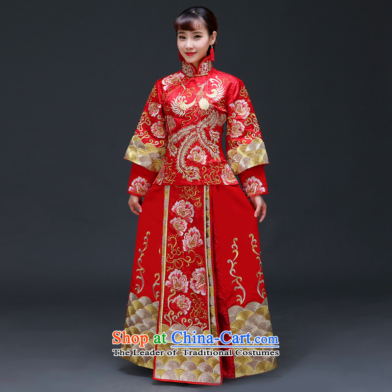 The Royal Advisory Soo-wo service friendly new Chinese wedding dresses bows services to the dragon costume Hei services use the wedding dress Sau Fung Koon-hsia previous Popes are placed and the use of a set of clothes to the Dragon Head Ornaments recomme