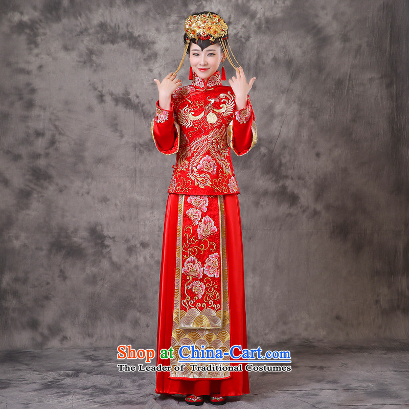 The Royal Advisory Groups to show the land use of the new Chinese dragon retro bride wedding dresses marriage bows services wedding gown ancient Chinese hi-bong-Koon-hsia previous Popes are placed a + model clothes Head Ornaments S Breast 86