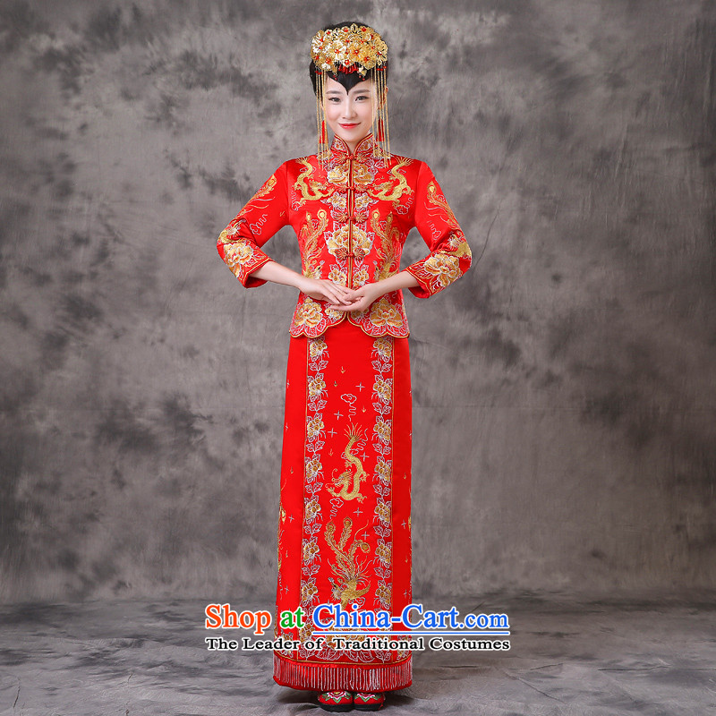 The Royal Advisory Groups to show friendly new bride longfeng use marriage qipao bows services-hi-Chinese wedding dresses Bong-Koon-hsia wedding gown ancient Chinese previous Popes are placed a + model clothes Head Ornaments?L of brassieres 102