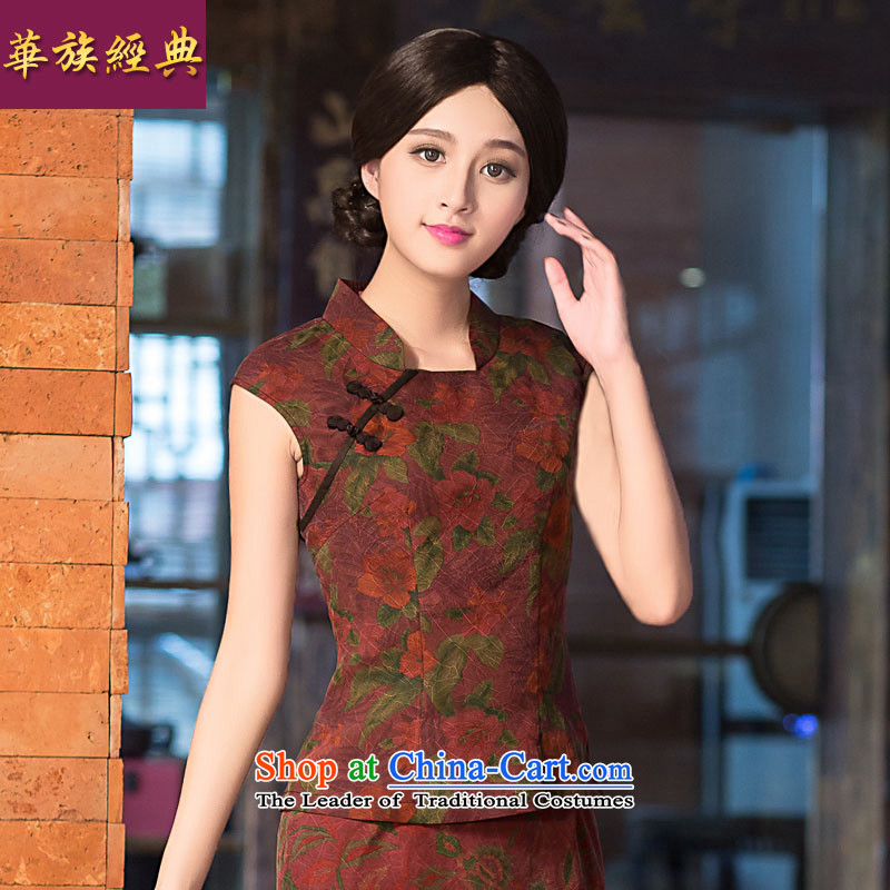The Classic Chinese ethnic Chinese Wind female silk incense cloud yarn Tang blouses national costumes retro Chinese Han-Ms. Suit燤