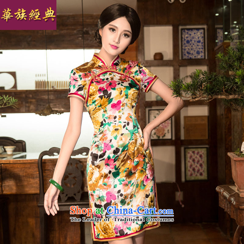 China Ethnic classic autumn and winter new cheongsam dress Stylish decorated Chinese who improved Mr Ronald Tang dynasty female retro-day spent Kam燤