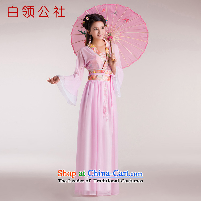 White-collar corporation costume drama costumes Han-spend on Satan ancient clothing sleeves classical dance performances dress pink fairies燬
