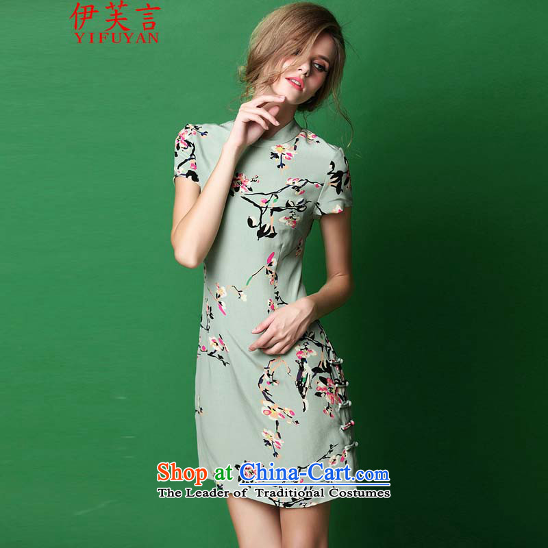 Statements were made by the autumn of 2015, of the new arts and cultural nouveau temperament mahogany color photo of qipao stamp 3213燬