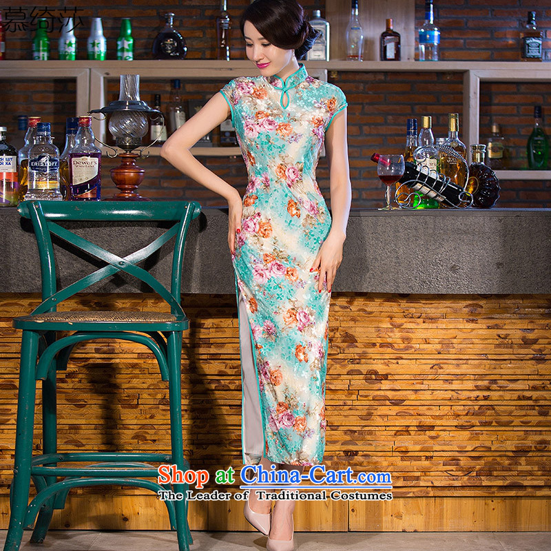 The players were all drenched in�15 Elizabeth Yee Chau replacing cheongsam dress new retro improved cheongsam dress in long temperament long qipao燪 254爏uit�L