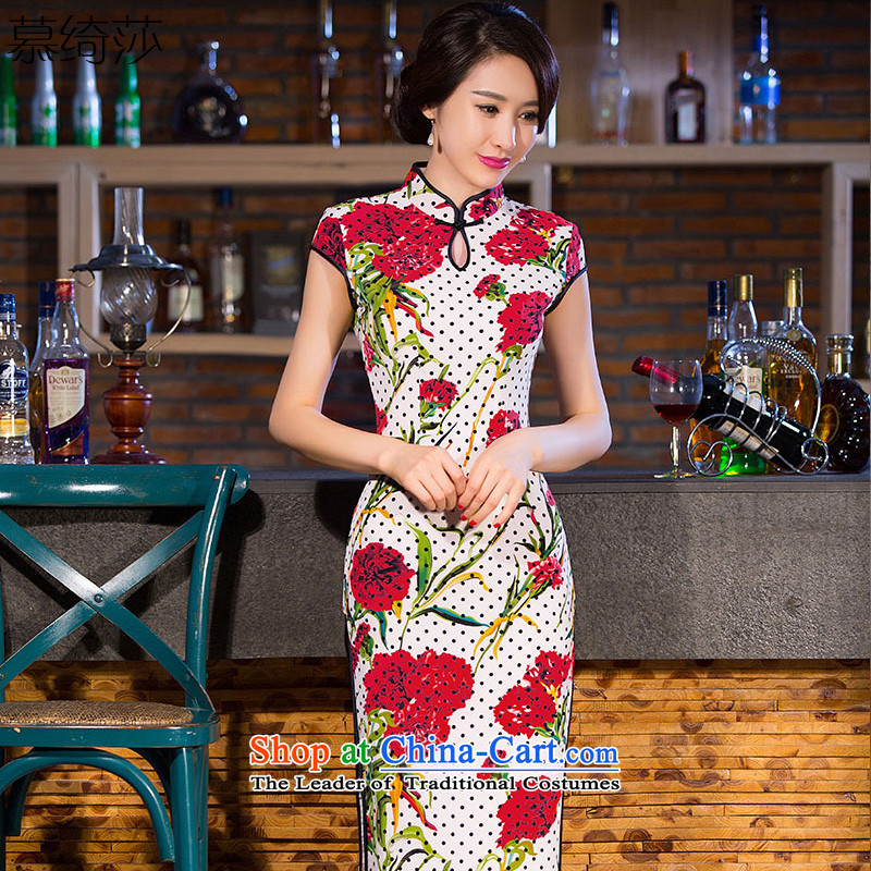 The cross-SA-�load autumn 2015 Qingjiang new cheongsam dress in the medium to long term improvement of daily cheongsam dress ethnic long qipao�Q 258�Suit�M