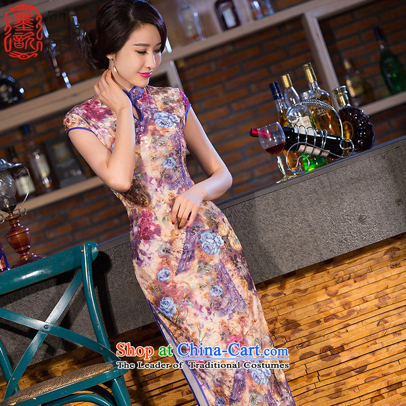 The 2015 autumn dreams bogey 歆 cheongsam dress in the medium to long term of daily new improved qipao qipao gown QD255 slender video picture color 2XL