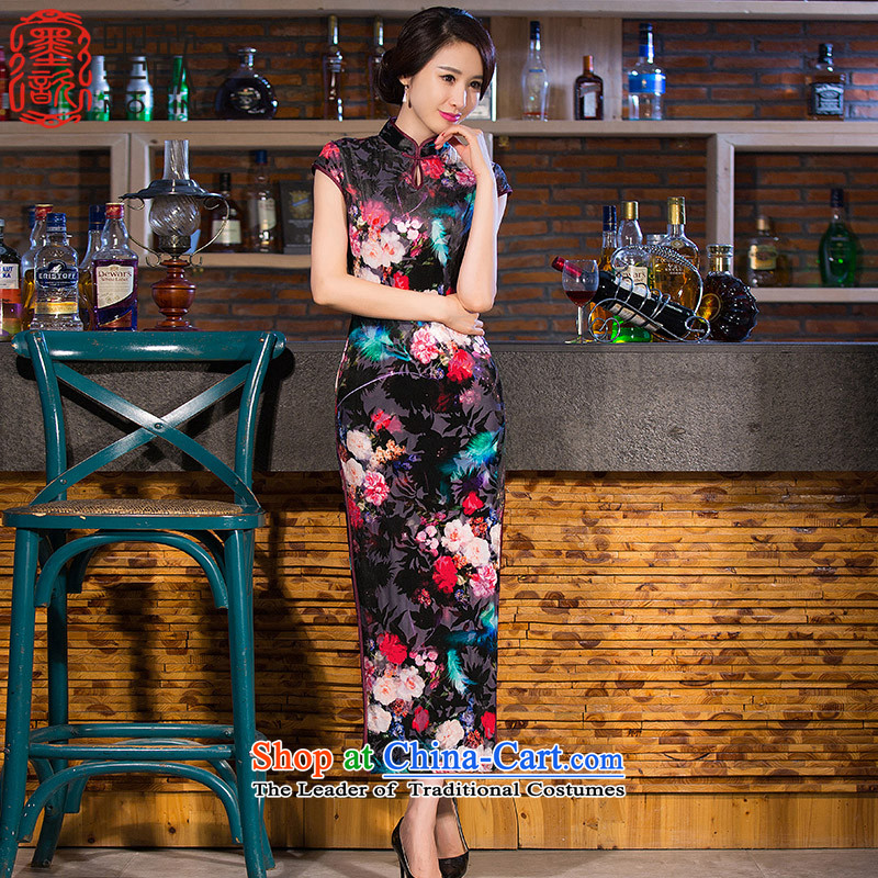 The vulnerability of new ? qipao cheongsam dress scouring pads in the improvement of qipao gown long qipao retro�QD256 Ms.�picture color�M