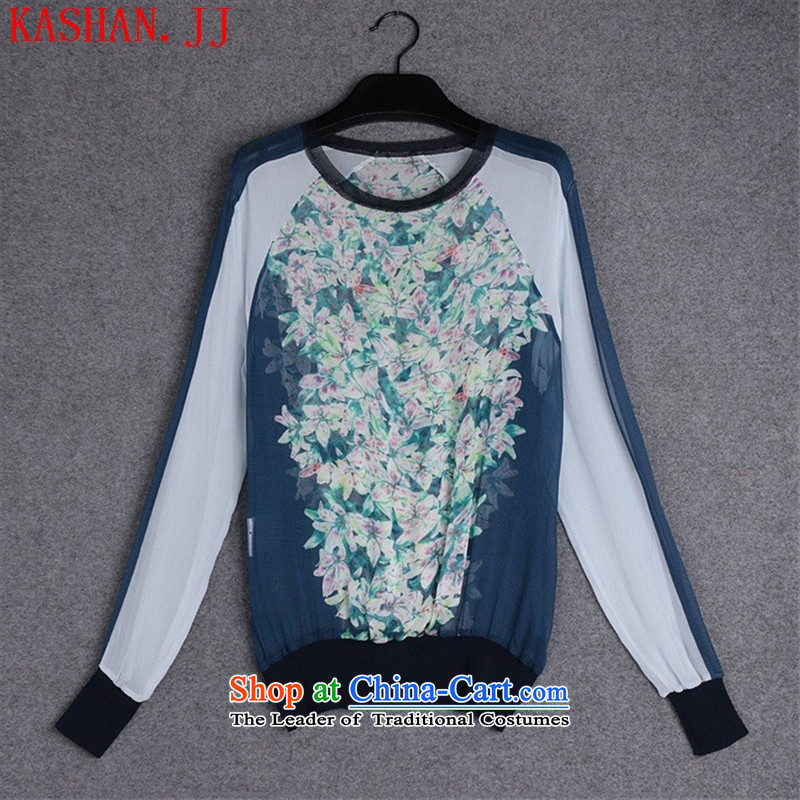 ??The European site autumn 37A853 new for women with silk shirt color picture stamp?M